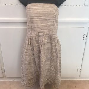Banana Republic Tan/Sand Strapless Dress SZ 6